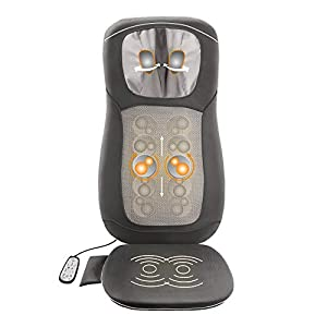 Medisana MC 822 Shiatsu Massageauflage, Massagesitzauflage mit Spotmassage und Nackenmassage, Rollenmassage, Wärmefunktion, Vibrationsmassage, mit Fernbedienung für Rücken und Nacken