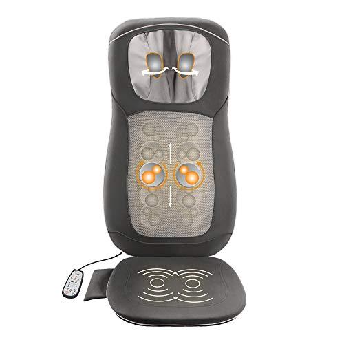Medisana MC 822 Shiatsu-Massagesitzauflage - Massageauflage mit Spotmassage und höhenverstellbarer Nackenmassage - Rollenmassage mit Wärmefunktion, Vibrationsmassage und Wärmefunktion - 88922