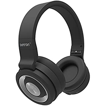 Betron BN15 Bluetooth Headphones, Wireless, 10m Range, Built in Microphone for iPhone, iPad, iPod, Mp3 players, Tablets and More