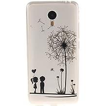 Guran® Silicona Funda Carcasa para Meizu M2 Note Smartphone Bumper TPU case Cover-Los amantes y el diente de león