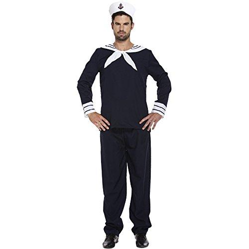 Kostüm Officer Uniform Navy - Mens Erwachsene Sailor Navy Officer Kapitän Uniform Kostüm Outfit U36103