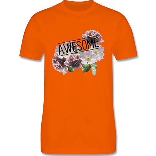 Statement Shirts - Awesome Blumen - Herren Premium T-Shirt Orange