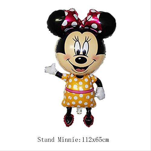 Maus Folienballon Happy Birthday Party Dekoration Mini Mickey Kopf Medium Mickey Kopf Ballon Kinderspielzeug 112X65 cm ()
