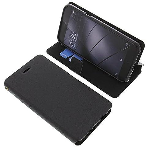 Tasche für Gigaset Me Pure Book Style schwarz Schutz Hülle