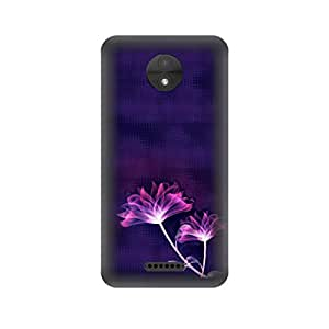 Skintice Designer Back Cover with direct 3D sublimation printing for Moto C plus