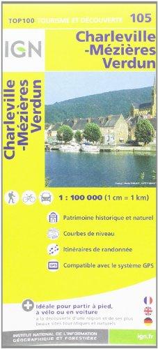 TOP100105 CHARLEVILLE-MEZIERES/VERDUN 1/100.000
