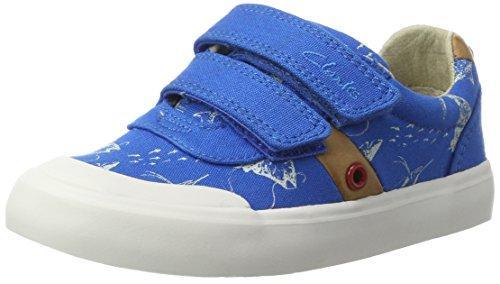Clarks Comic Zone, Sneakers Basses Garçon Bleu (Cobalt)