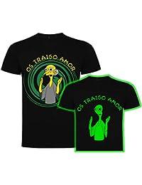 Foreverdai Camiseta Fan Art Os traigo Amor- Brilla en la Oscuridad - Inspirada Sr. Burns de Los Simpson