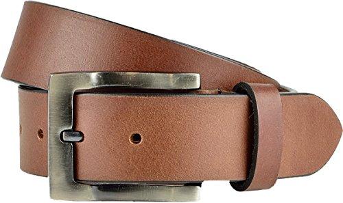 Echt Leder Gürtel Herren 40 mm breit Vollledergürtel Jeansgürtel 4 cm Ledergürtel Braun