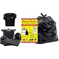 Clean India ® - Garbage Bags - 19X21 | 3 Packs of 30 Pcs - 90 Pcs | Black Medium Disposable Dustbin Bags