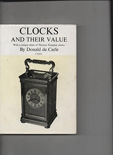 Clocks And Their Value. With a Unique Chart of Thomas Tompion Clocks