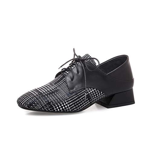 Les Hauts Talons Femmes des Talons épais Casual Bas pour Aider Dentelle Casual Shoes