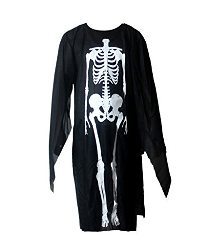 Smile YKK Skelett Druck Cosplay Kostüm Halloween Bekleidung Langarm Kind (Skelette Kostüme)