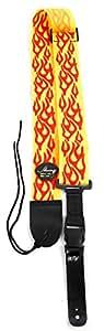 Jaune et rouge Flamme Sangle de Guitar Controller pour Guitar Hero & Rock Band guitares sur PS3, PS2, Xbox 360et Wii (compatible avec Guitar Hero: Warriors of Rock, 6, 5, 4, 3, 2et 1)