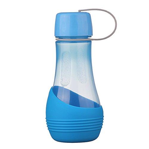 Neue Wasserflasche Für Hunde BPA-frei mit abnehmbarer Schüssel,Perfekt zum Wandern,Ausübung,Wandern,Camping mit Haustiere