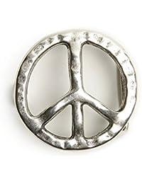 VaModa Hebilla para cinturón con motivo 'Miss Peace'