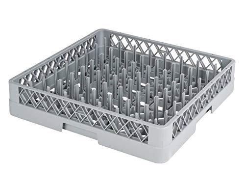 heyChef - Teller-Korb, 50 x 50 cm - mit 64 Fingern   Spülkorb für die Gastro Spülmaschine   Weitere Spülkörbe direkt auswählbar