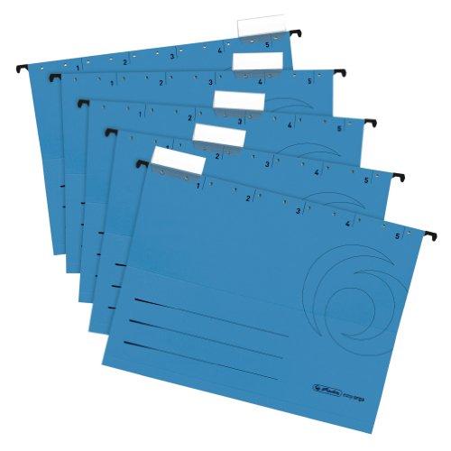 Herlitz 5874664 Hängemappe blau 5er Packung