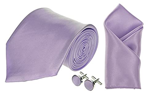 LILAC MENS BOYS BABIES TIE SETS SKINNY CRAVATS HANDKERCHIEF HANKY CUFFLINKS BOW SUIT (Mens, Tie Set)