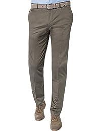 Strellson Premium Herren Hose Baumwolle Pant Unifarben, Größe: 94, Farbe: Grün