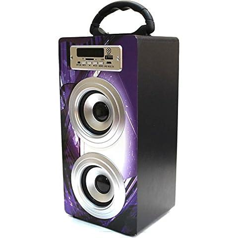 Altavoz Inalambrico Manos Libres Portatil Bluetooth con Mp3 Waterproof Impermeable Radio Fm Altavoz