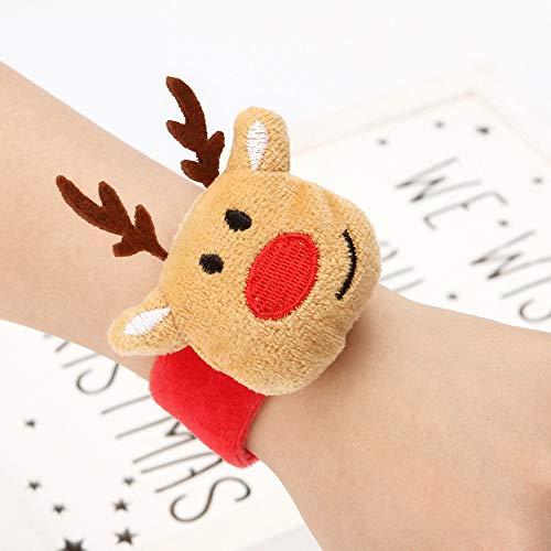 MA87 Weihnachten klatschen Kreis Pat Hand Ring Weihnachten Armband Neujahr Party Kind Geschenk (A) (Kostüm Ringe Aus China)