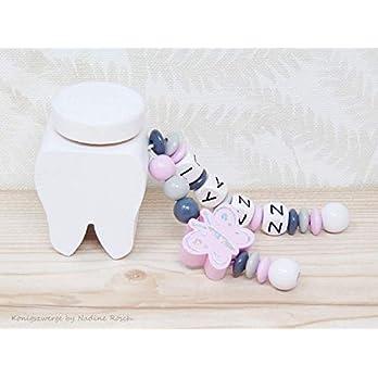 Milchzahndose mit Namen / Zahndose Holz / Milchzahndose Junge