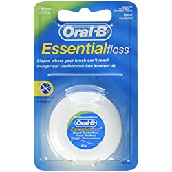 Oral-B Essentialfloss Zahnseide ungewachst, 50 m, 4er Pack (4 x 1 Stück)