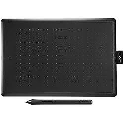 Wacom - Tablette à Stylet One by Wacom Noir/Rouge (Format : M) / Medium Tablette Graphique avec Stylet Sensible à la Pression / Compatible Windows et Mac