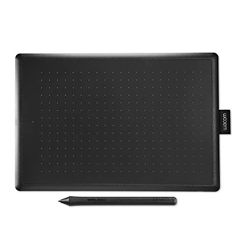 Wacom - Tablette à Stylet One by Wacom Noir/Rouge (Format : M) / Medium Tablette Graphique avec Stylet Sensible à la Pression / Compatible Windows et Mac