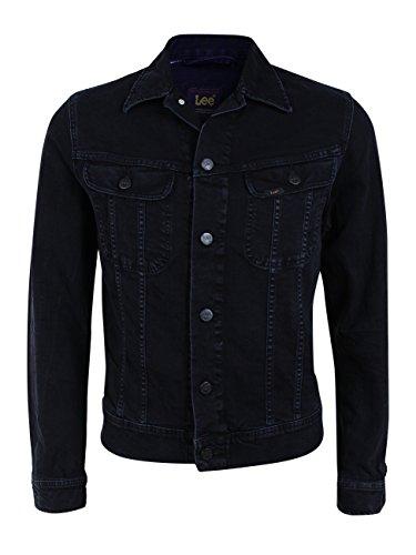 Lee Herren Jeansjacke Slim Rider - Slim Fit - Schwarz - Dark Raven, Größe:M, Farbe:Dark Raven (L89RJBLV) (Lee Jeans-jacke)
