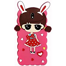 Explocart 3D Doll Cute Hello Kitty Soft Silicone with Metal Girl's Back Case Cover for Samsung Galaxy J7 Pro - (Pink)