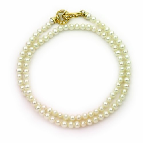 Ortak Belle Collection GDN 15 Full Pearl Necklet with Gold Clasp