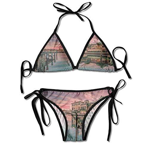 Padded Halter Bikini Set,Bay Naples Florida Apartments Sexy Bikini 2 Pieces