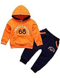 Gyratedream Ensemble de Vêtements pour Bébé Garçon Fille Survêtements Sweat  à Capuche T-Shirt Manches c57f9783412