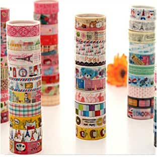 juguetes kawaii 10 Cintas adhesivas Kawaii 5 Metros mezcla de disenos