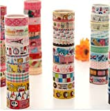 10 Kawaii 5M Tapes Mix Designs Cartoon Adhesive Tape Set for Scrapbooking/Craft by Lau&Home