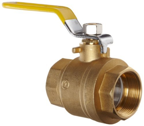 Apollo 94A Series Brass Ball Valve, Two Piece, Inline, Lever, 4 NPT Female by Apollo Valve -