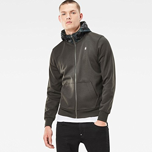 G-STAR RAW Herren Sweatshirt Core Hooded Zip Sw L/S Grün (Asfalt 995)