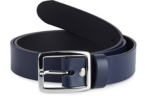 Merry style cintura donna in 100% vera pelle d41 (blu marino, 95 cm (lunghezza totale 114 cm))