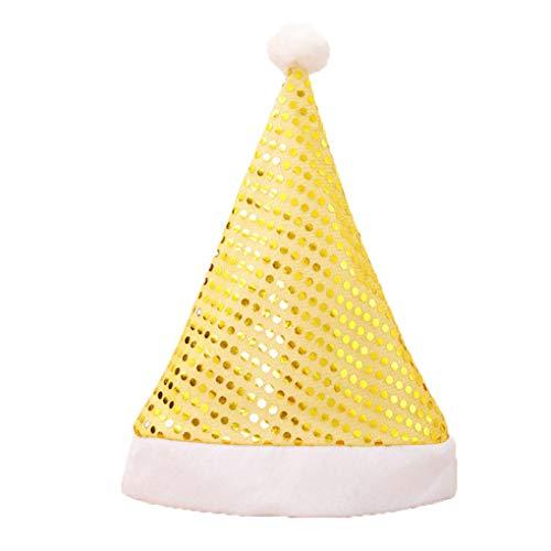 Kostüm Party Erwachsene Christmas Für - beIilan Weihnachtsmann Glitzernde Pailletten Hüte Tuch Caps Stirn- Schmuck Christmas Party-Kostüm-Erwachsene