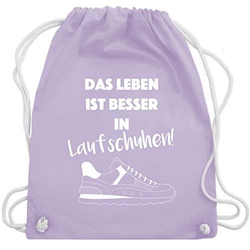 Laufsport - Das Leben ist besser in Laufschuhen! - Unisize - Pastell Lila - WM110 - Turnbeutel & Gym Bag -