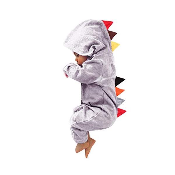 YWLINK Mono con Capucha Bebé ReciéN Nacido NiñOs NiñAs Manga Larga Caricatura Dinosaurio Cremallera con Capucha Mameluco… 1
