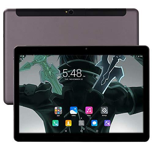 4G LTE 10 Pulgadas Tablet teléfono 10 Core Tablet Deca-Core Android 8.0 1920x1200 IPS Memoria 6GB ROM 64GB 4G Tarjeta SIM Doble Tarjeta de teléfono Bluetooth WiFi GPS electrónico 9 4G Red 10 (Negro)
