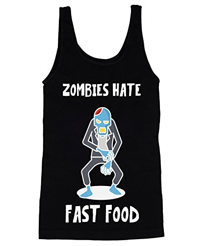 Zombies Hate Fast Food Nice Zombie Men's Männer Tank Top Shirt XX-Large (Top Halloween Kills 20)