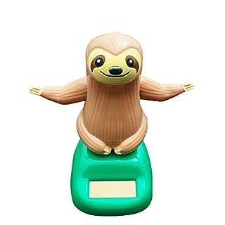 Sanmubo Solarbetriebene Schafe Faultier Autodekoration Cartoon Autozubehör Spielzeug Weihnachtsgeschenk Wohnzimmer Schlafzimmer Schreibtisch Dekorations