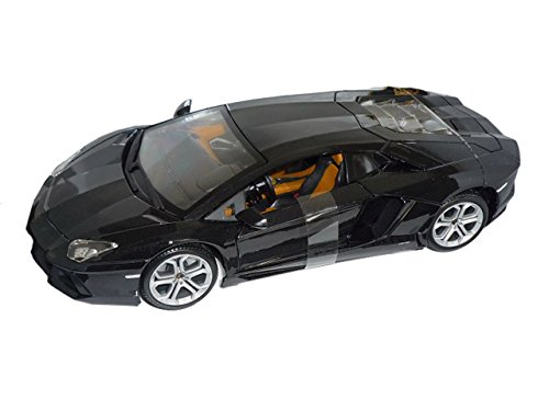Lamborghini Aventador 2011 Lp700-4 Lp 700 Schwarz Coupe 1/18 Bburago Modell Auto mit individiuellem Wunschkennzeichen