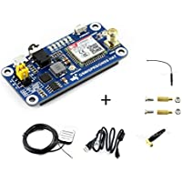 Raspberry Pi GSM/GPRS/GNSS Bluetooth HAT Expansion Board GPS Module SIM868 Compatible With Raspberry Pi 2B 3B 3B+ Zero Zero W Support Make a Call,Send Messagess,Data Transfer