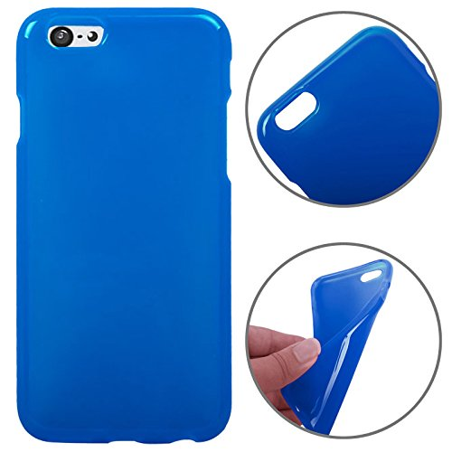 SmartProtectors! Premium Softcase / Polycarbonate Material TPU Jelly Case / Schutzhülle für Apple iPhone 6 & 6S in Royal-Blau -