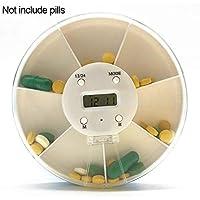 JINM Tragbare Mini-Digital-Pillendose mit 7 Fächern, wöchentliche Medikamentenaufbewahrung, Organizer mit 5 Gruppen... preisvergleich bei billige-tabletten.eu